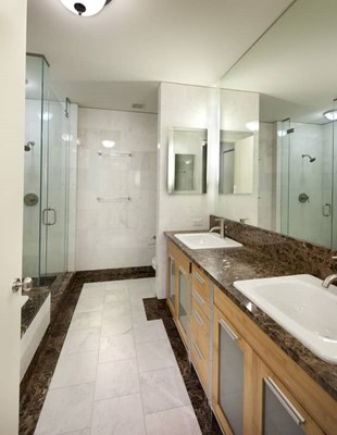 10 Hanover Square Bathroom with Double Sinks