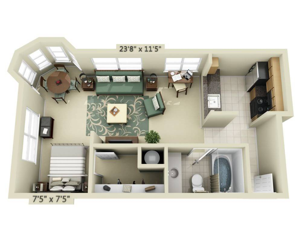 Floor Plans And Pricing For 2000 Post Apartments San Francisco Ca,3 Bedroom Apartment Floor Plans With Dimensions