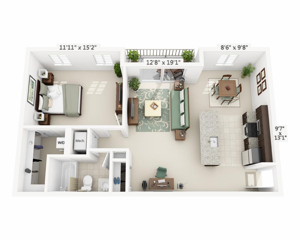 Apartment Floor Plans And Pricing For Arbor Park Of Alexandria | Alexandria  VA