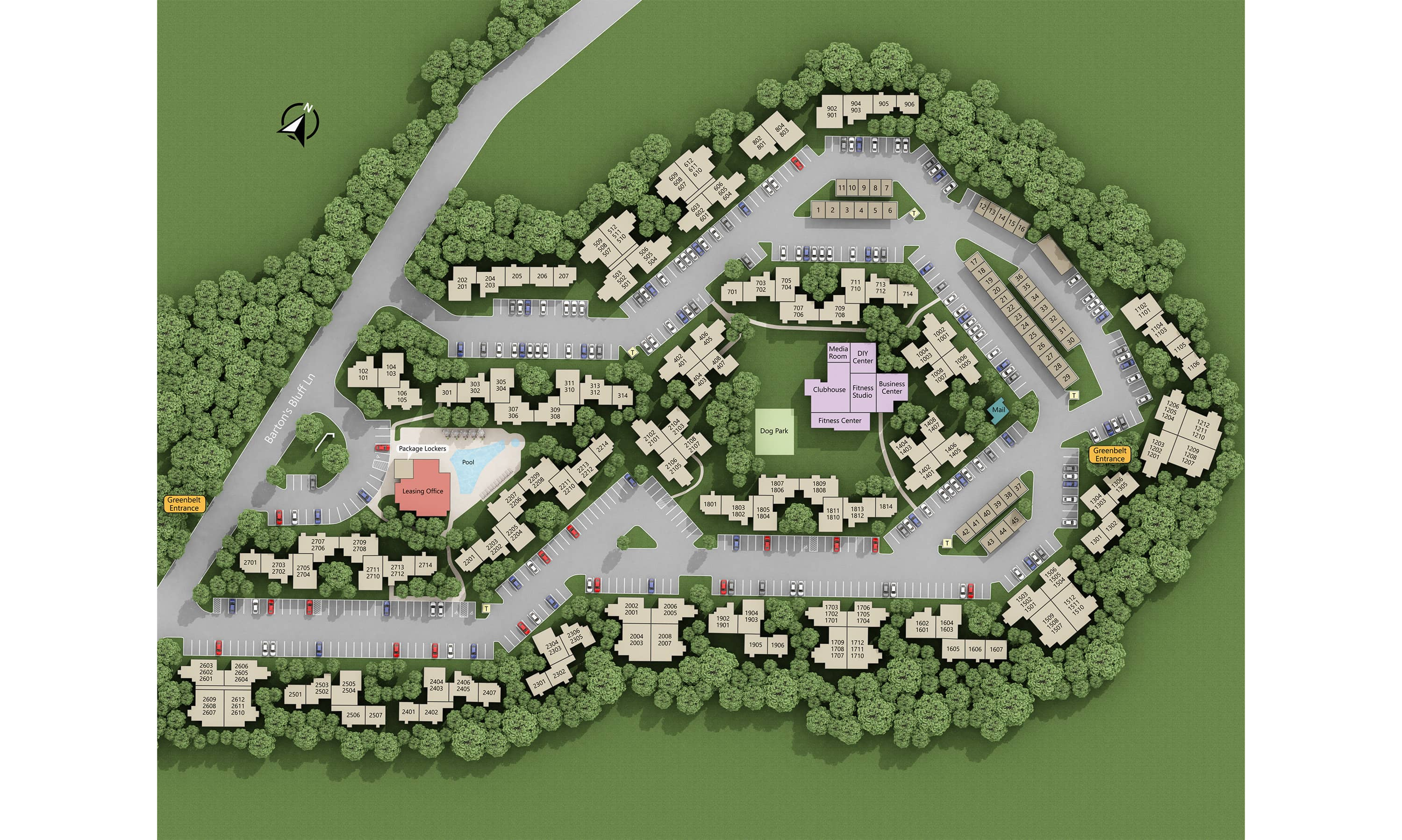 Apartments And Pricing For Barton Creek Landing