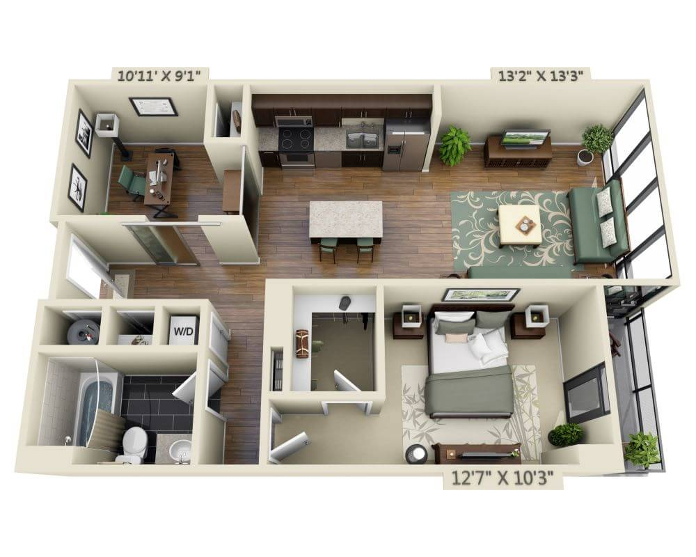 Floor Apartment Plans and Pricing for Capitol View on 14th ...