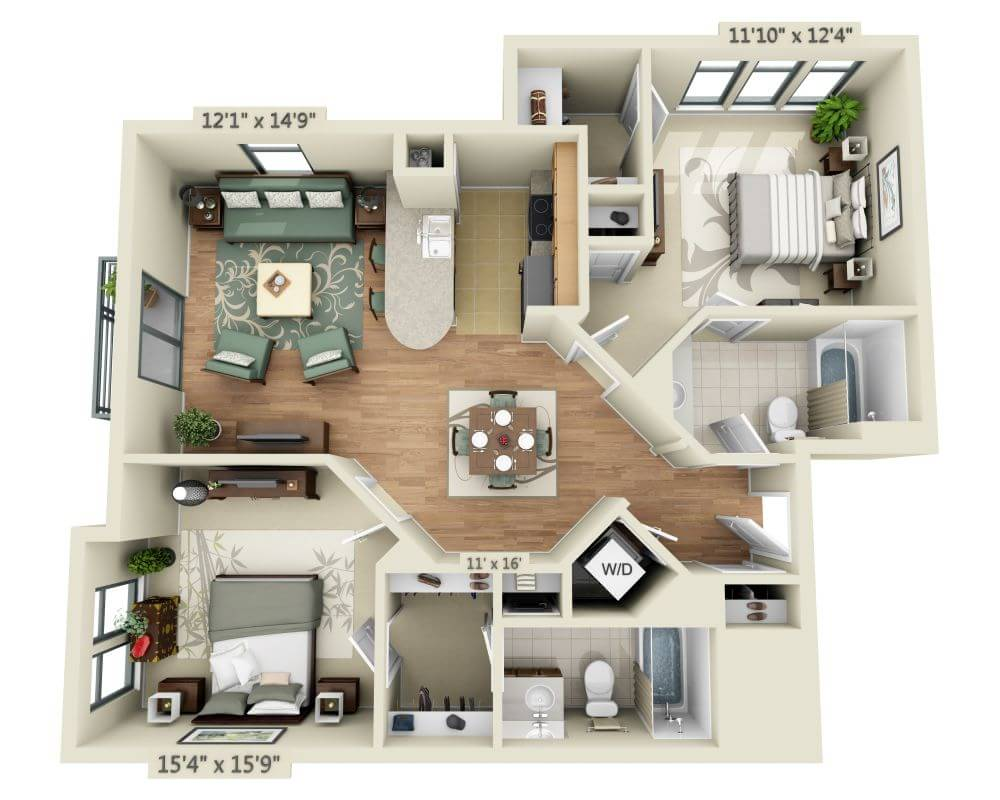 Tremendous Apartments And Pricing For Delancey At Shirlington Village Download Free Architecture Designs Ferenbritishbridgeorg