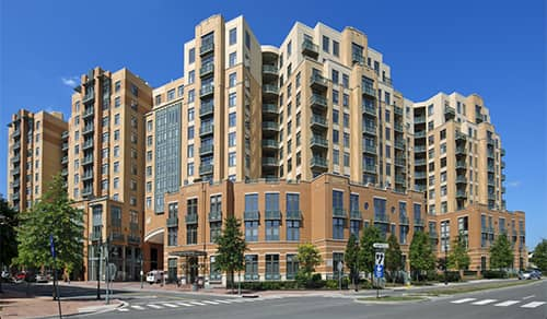 Delancey Shirlington Village apartment building exterior