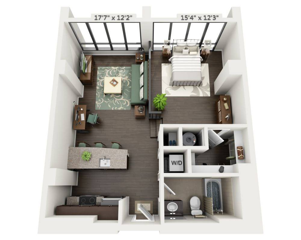 Floor Plans And Pricing For Delray Tower Apartments Alexandria