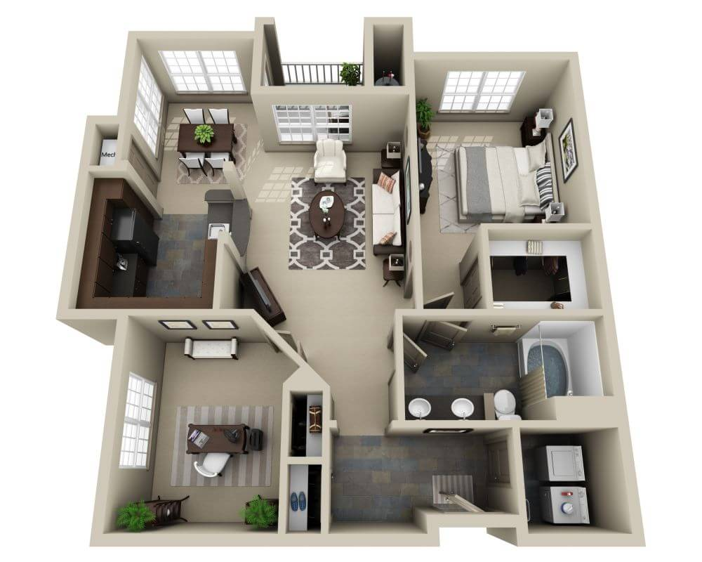 Floor Plans And Pricing For Lodge At Foxborough South Shore - 2-bedroom-apartment-floor-plans