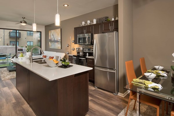 Residences at the Domain Kitchen Island
