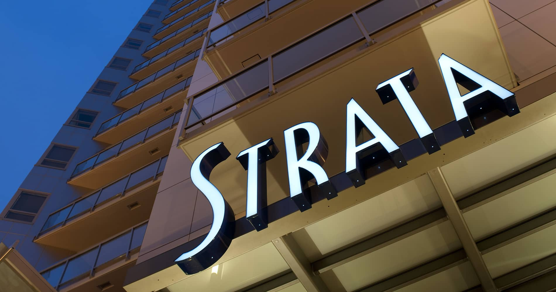 Strata Building Sign